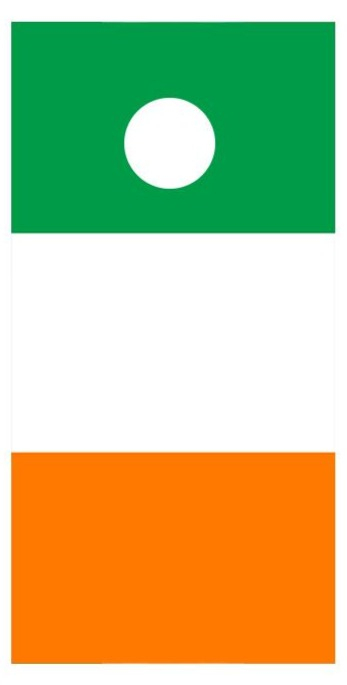 Flag of Ireland Cornhole Board Decal Wraps