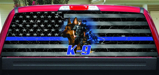 K-9 Unit Rear Window Decal
