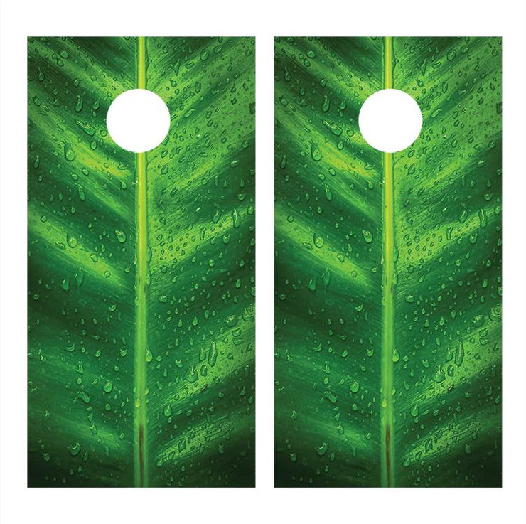 Broad Leaf Cornhole Board Decals Bean Bag Toss