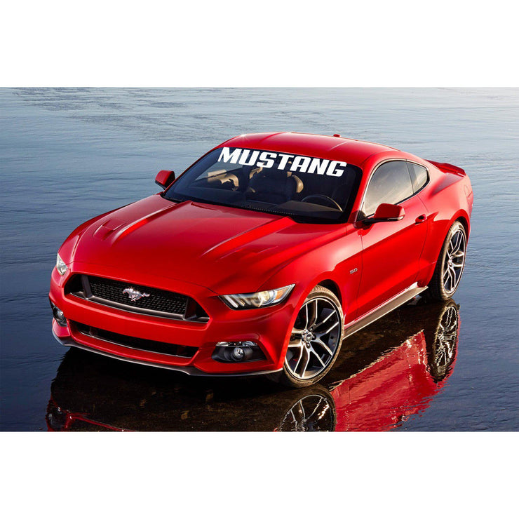 "Windshield Decal ""MUSTANG"" - Let's Print Big"