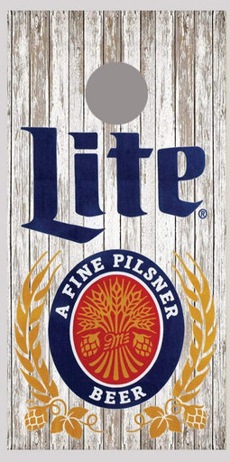 Miller Lite Beer Cornhole Board Decal Wrap