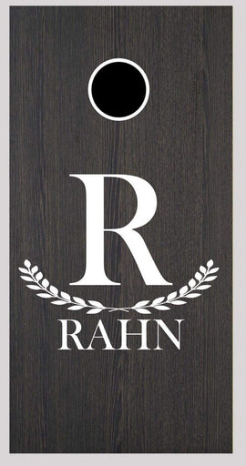 Custom Monogrammed Cornhole Board Decal Wraps