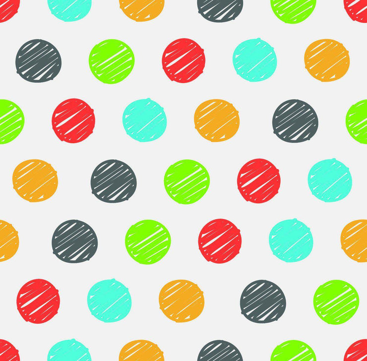 Wallpaper by the square foot Rainbow Polka Dots Pattern - Let's Print Big