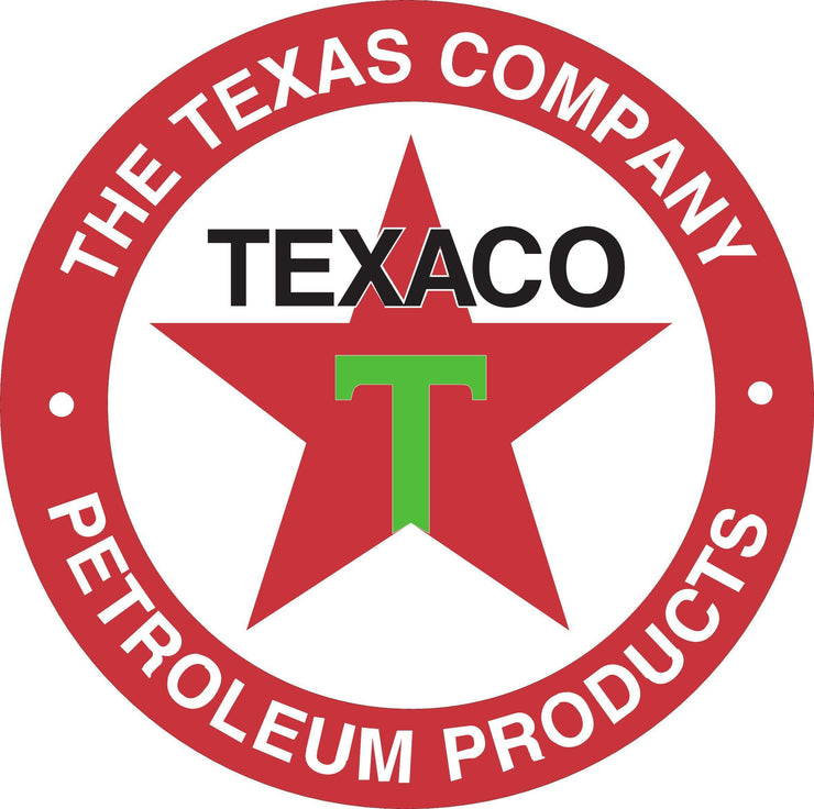 Texaco Round Red / Black / Green color decal sticker - Let's Print Big