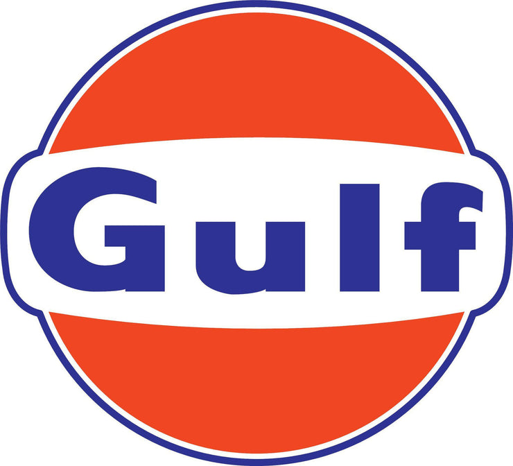 GULF- Logo Decal Sticker Vintage 6 SIZES - Let's Print Big