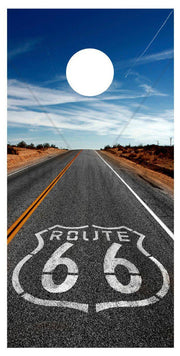 Route 66 Highway Cornhole Board Decal Set -  2 Decals - Let's Print Big