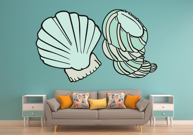 Sea Shells Wall Art Decals Stickers