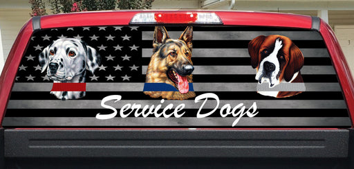 Service Dogs Rear Window Decal