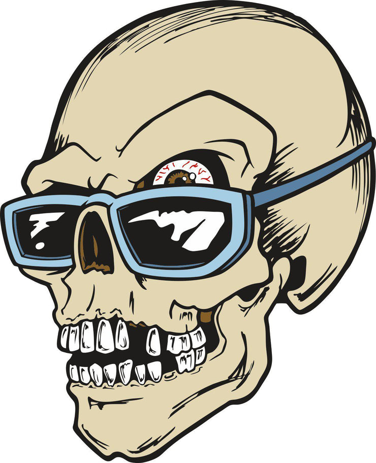 Skull Sunglasses color decal stickers - Let's Print Big