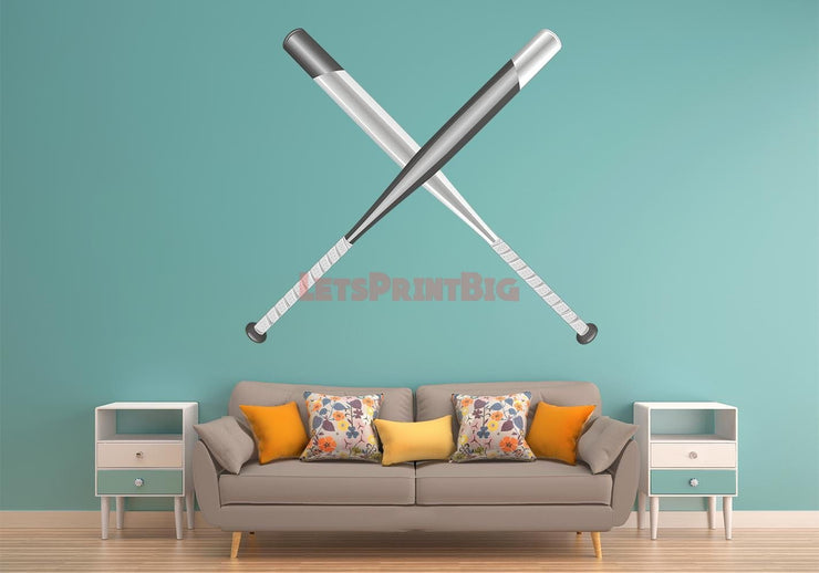 Softball Bats Wall Decals Removable Repositionable Fathead style - Let's Print Big