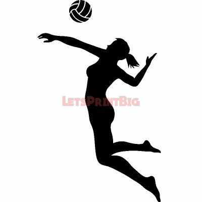 Volleyball Player Wall Decals - Let's Print Big