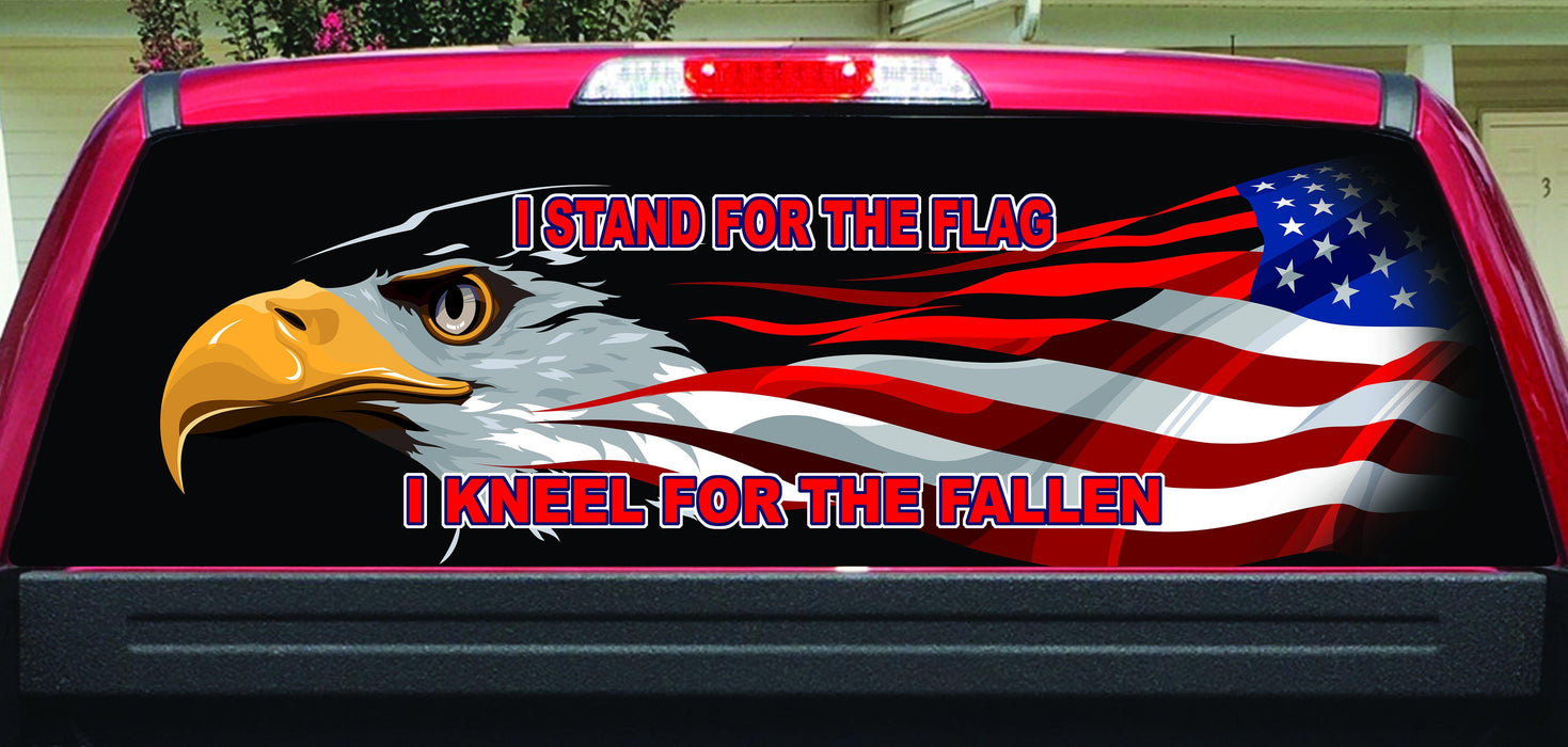 I stand for the flag rear window decal lets print big