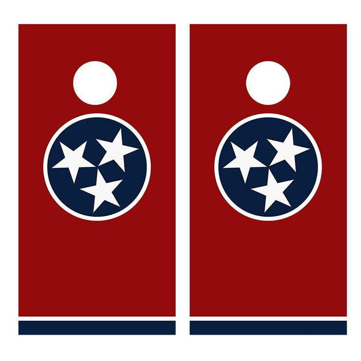 Flag of Tennessee Cornhole Board Decal Wraps