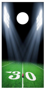 30 Yard Line Football Field Cornhole Board Decal Set-2 Decals Bean Bag Toss - Let's Print Big