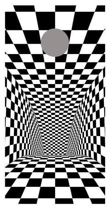 Tunnel Illusion Checkered Cornhole Board Decal Wraps