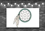 Blue Dream Catcher Wall Art Decal Sticker - Let's Print Big