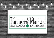 Farmers Market Eat Fresh Local Kitchen Wall Art Decal Sticker - Let's Print Big
