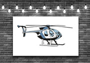 Giant Helicopter Bell Wall Art Decal Sticker - Let's Print Big