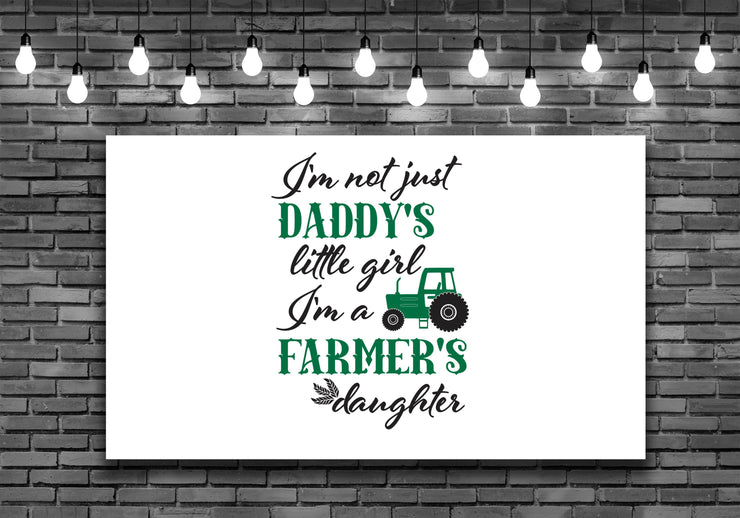 Daddys Little Girl Farmers Daughter Wall Art Decal Sticker - Let's Print Big