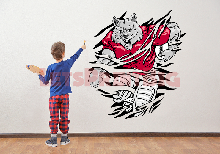 Wolf Wall Decal Tearout Art Decal - Let's Print Big