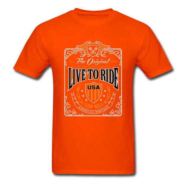 Live to Ride Men's T-Shirt - orange