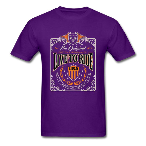 Live to Ride Men's T-Shirt - purple