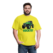 Green Jeep Rocktoy Rock Climber Men's T-Shirt - yellow