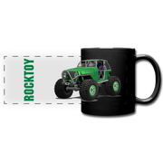Green Jeep Rocktoy Rock Climber Car Art Full Color Panoramic Mug - black