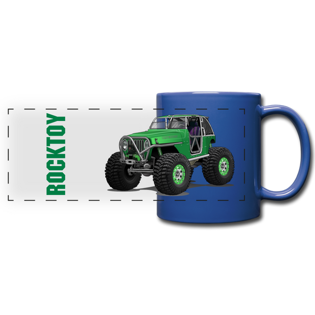 Green Jeep Rocktoy Rock Climber Car Art Full Color Panoramic Mug - royal blue