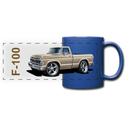 Ford F100 Pickup Truck Car Art Full Color Panoramic Mug - royal blue