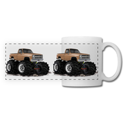 1986 Chevrolet 4x4 Pickup Truck Car Art Panoramic Mug - white