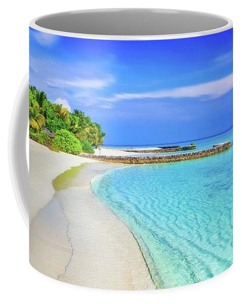 Blue Sky Beach - Coffee Coffee Mug