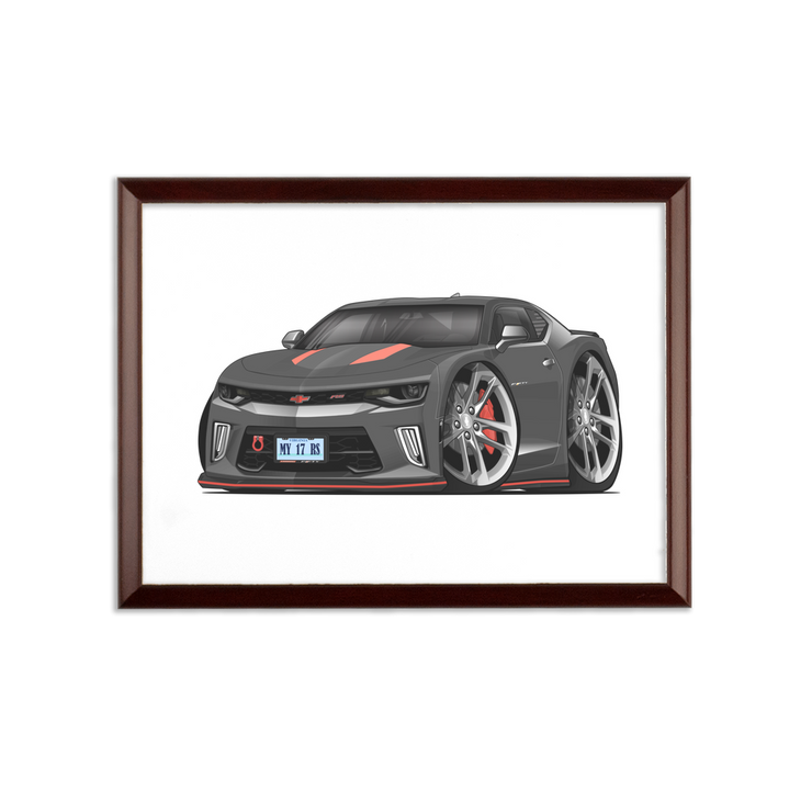 2017 Chevrolet Camaro RS 50th Anniversary Edition Sublimation Wall Plaque