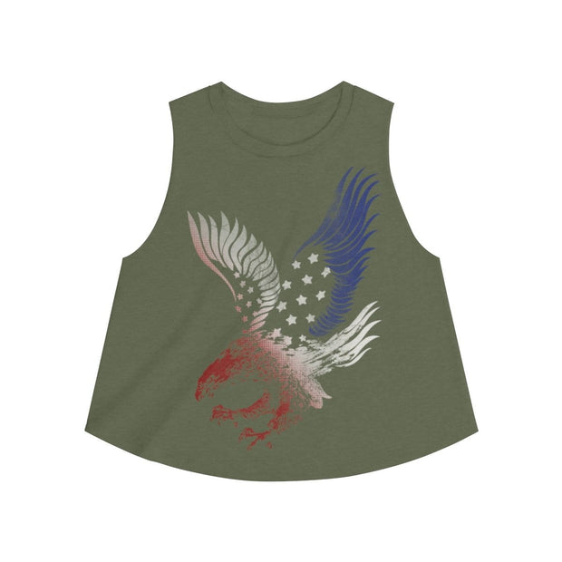 Red White Blue Eagle Women's Crop top