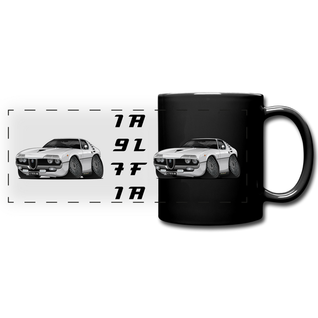 1971 Alfa Romeo Montreal Full Color Panoramic Mug - black