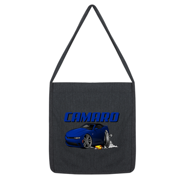 2018 Chevrolet Camaro Blue Convertible Smoke and Flames Classic Tote Bag
