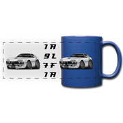 1971 Alfa Romeo Montreal Full Color Panoramic Mug - royal blue