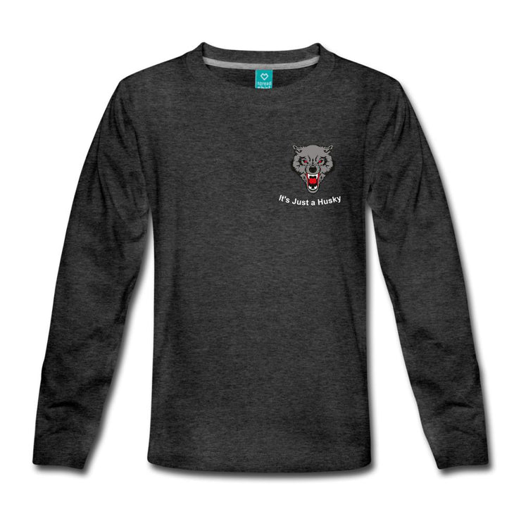 It's Just a Husky Kids' Premium Long Sleeve T-Shirt - charcoal gray