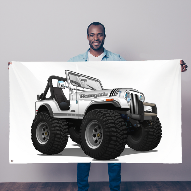 1980 Jeep CJ5 Renegade 4x4 Sublimation Flag