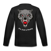 It's Just a Husky Kids' Premium Long Sleeve T-Shirt - black