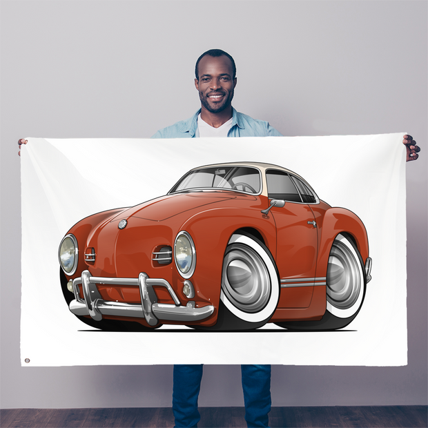 Volkswagen Cartoon Car art Sublimation Flag