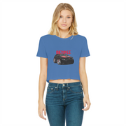 Cherokee Shirt 1 Classic Women's Cropped Raw Edge T-Shirt