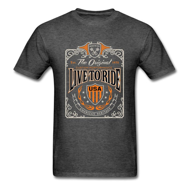 Live to Ride Men's T-Shirt - heather black