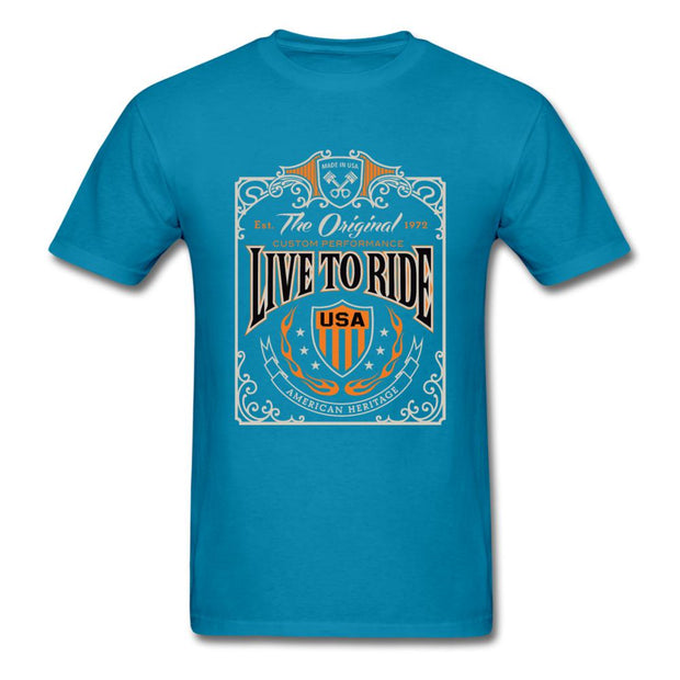 Live to Ride Men's T-Shirt - turquoise