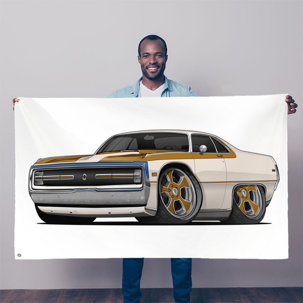 1970 Chrysler 300 Hurst Car Art Sublimation Flag