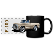 Ford F100 Pickup Truck Car Art Full Color Panoramic Mug - black