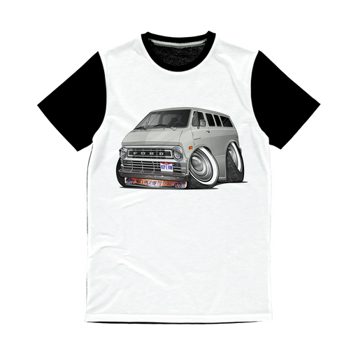 Ford Econoline Hip E Van Classic Sublimation Panel T-Shirt