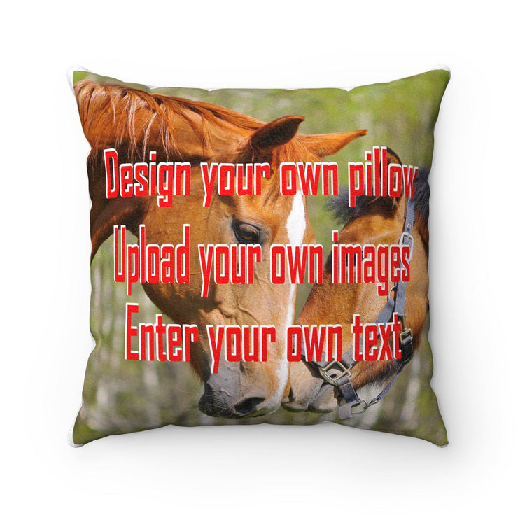 Make Your Own Faux Suede Square Pillow - Let's Print Big