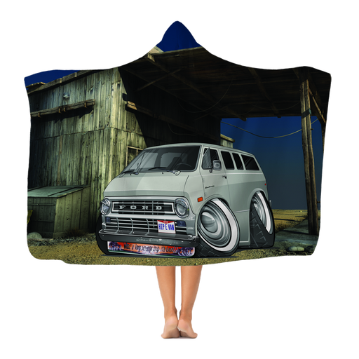 Ford Econoline Hip E Van Classic Adult Hooded Blanket