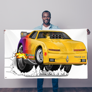 Yellow Firebird Trans Am Dragster Sublimation Flag